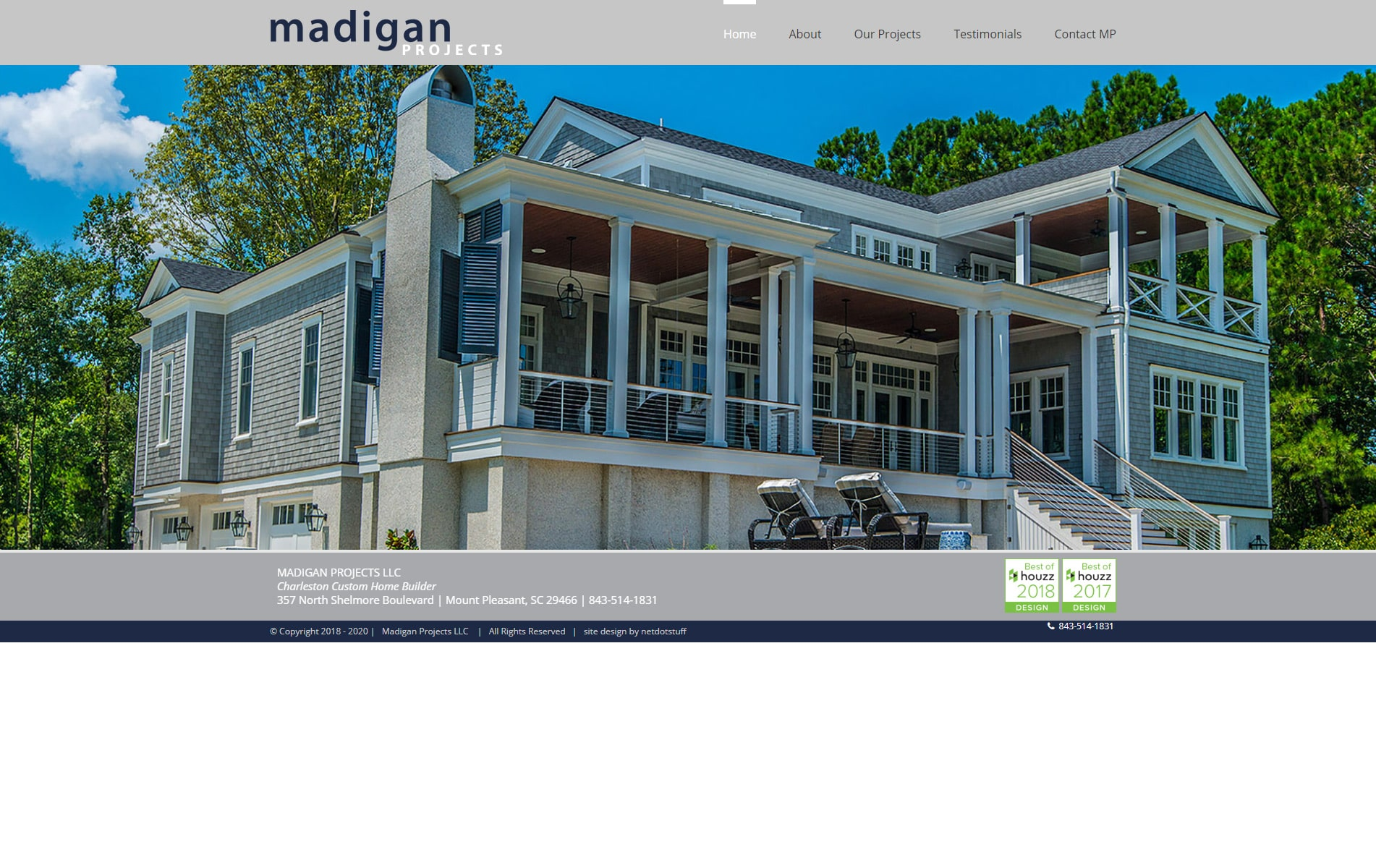 Screenshot of Madigan Projects Web Site